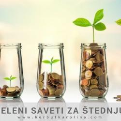 Zeleni saveti za štednju