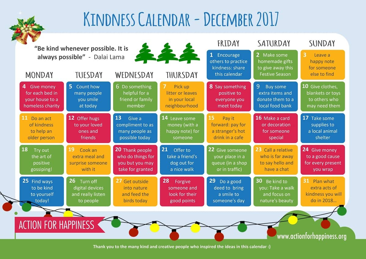 Kalendar ljubaznosti