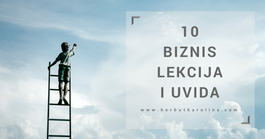 10 biznis lekcija