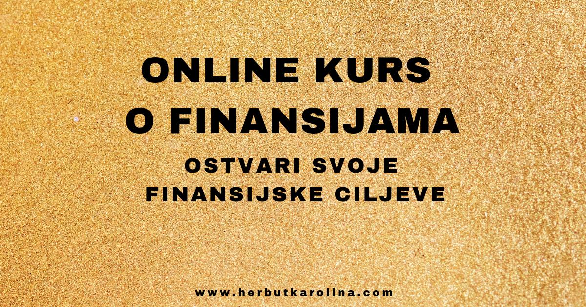 Online kurs o finansijama Karolina