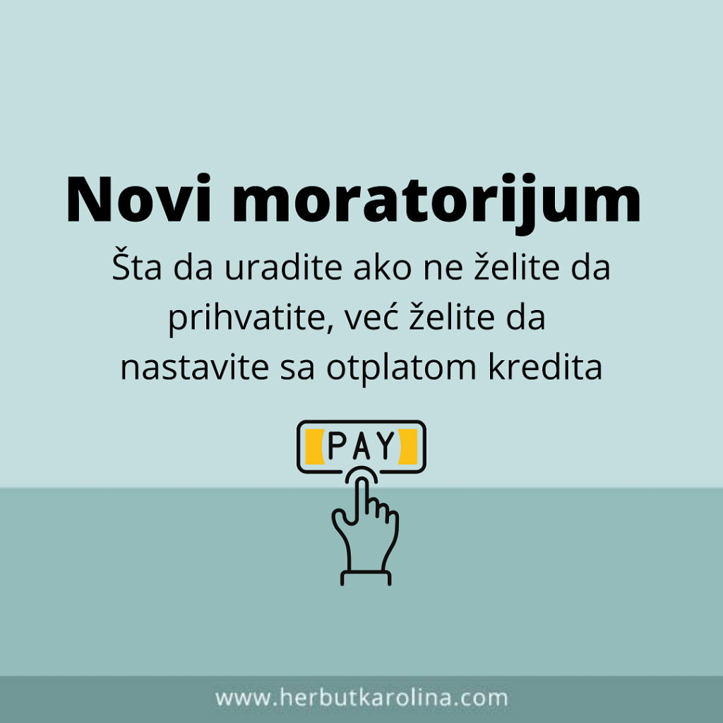 Novi moratorijum jul 2020