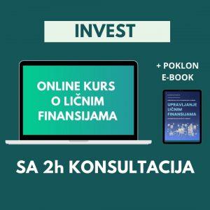 INVEST paket - onlajn kurs o upravljanju ličnim finansijama sa 2h konsultacija